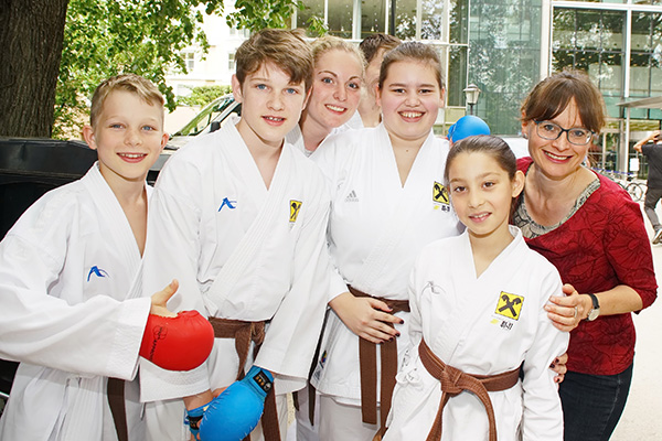 Karate Union Walserfeld beim Tag des Sports